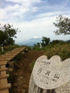 View of Mount Fuji from the summit of Mount Tanzawa